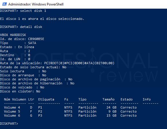 Eliminar particiones en Windows 10 paso 14