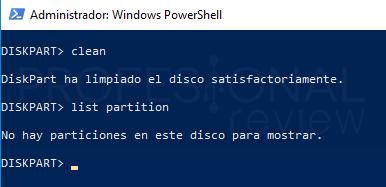 Eliminar particiones en Windows 10 paso 15