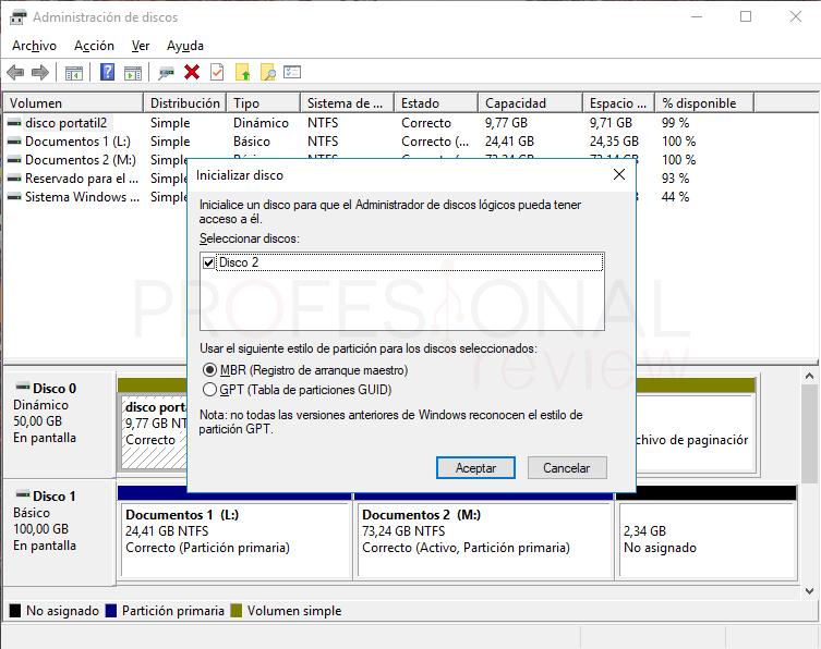 Inicializar disco duro paso 08