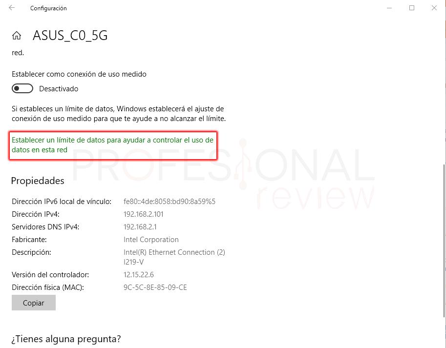 Limitar ancho de banda en Windows 10 paso 09