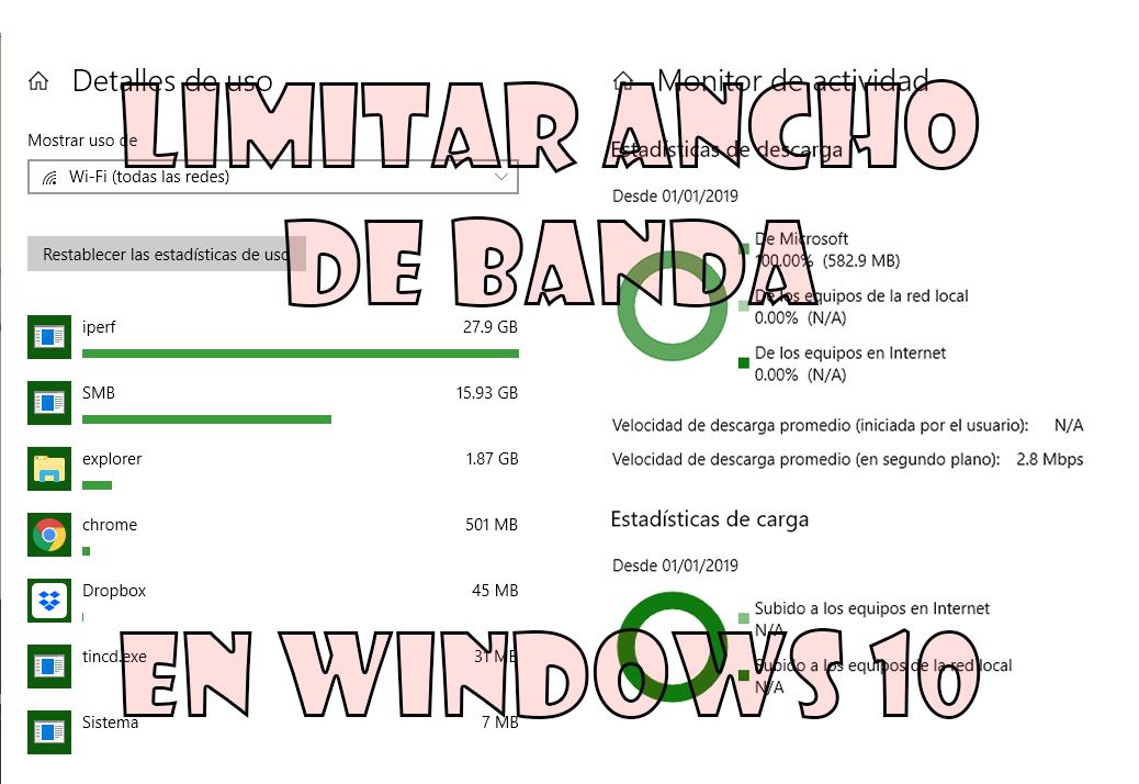 Limitar ancho de banda en Windows 10