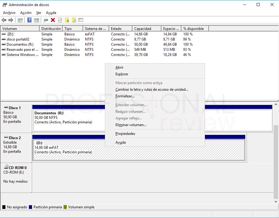 Particionar USB paso 03