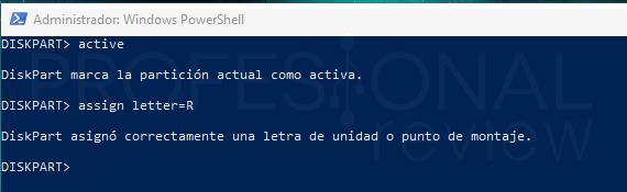 Windows no pudo completar el formato paso 06