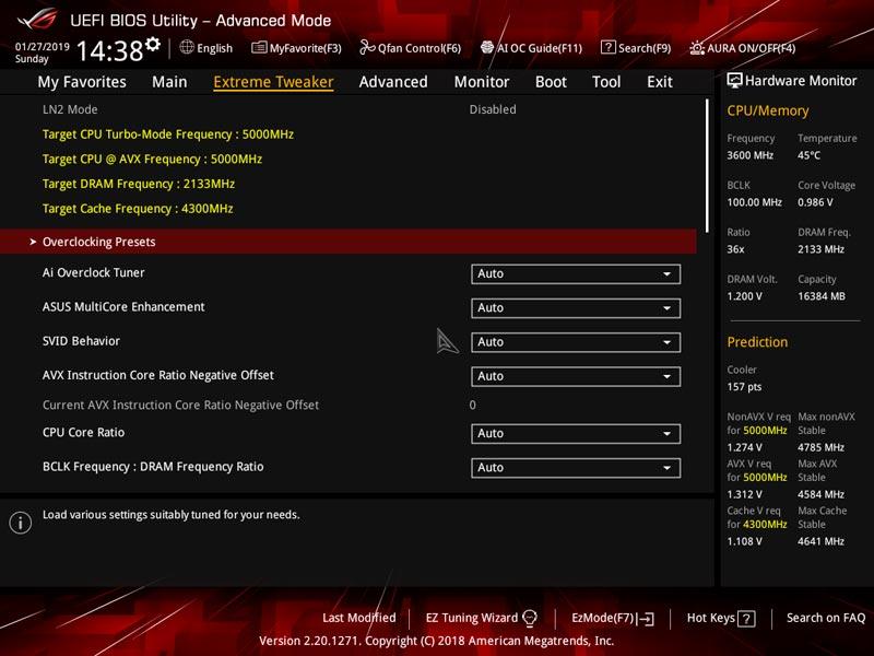 Asus ROG Maximus XI Apex BIOS