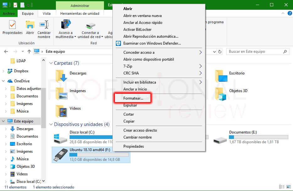 Formatear disco duro externo paso 01