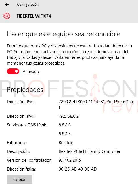 IP privada Windows