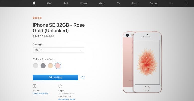 Apple vuelve a vender el iPhone SE, ahora por 249$