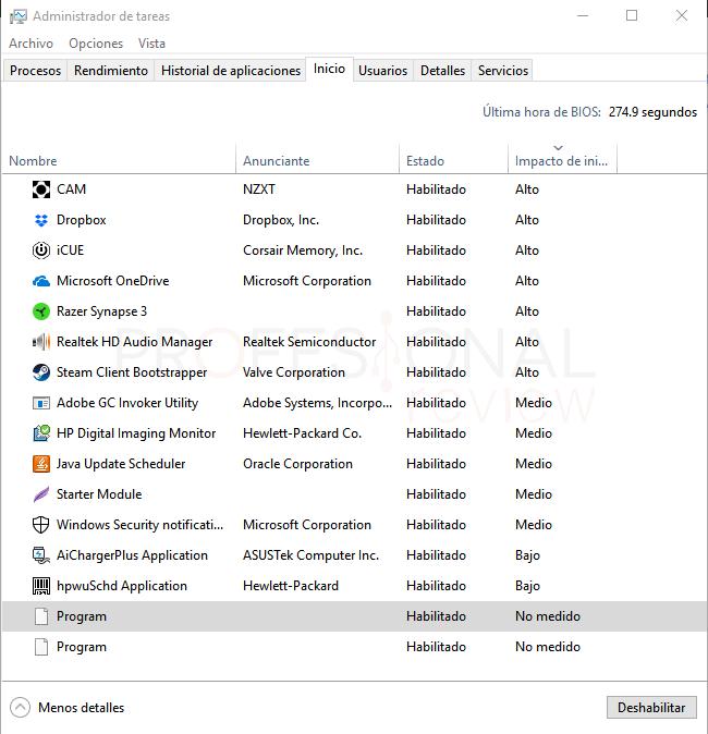 Mi ordenador va muy lento paso 18