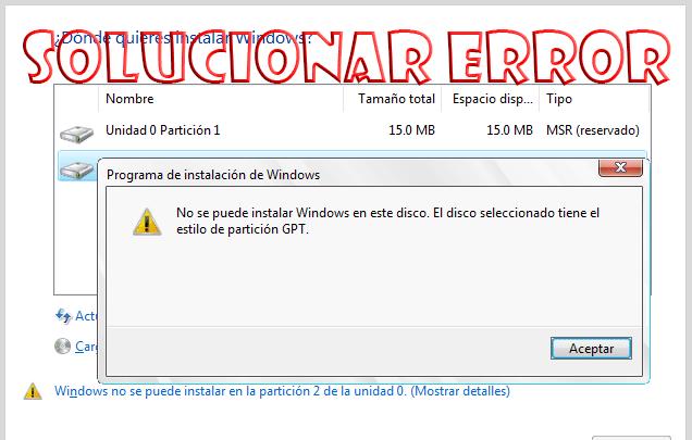 """Photo of Cómo solucionar el error """"no se puede instalar Windows en este disco"""""""