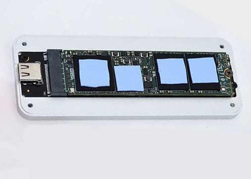 Puente de USB 3.1 Gen 2 a PCIe NVMe