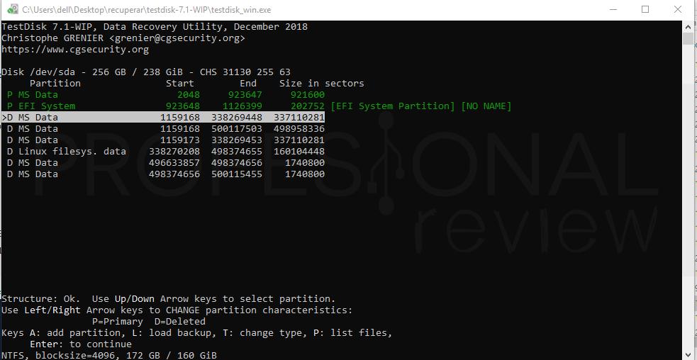 Recuperar datos de un disco duro paso 06