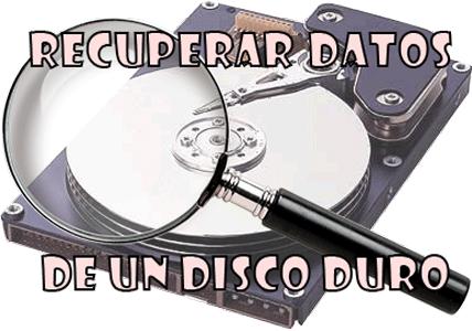 Recuperar datos de un disco duro