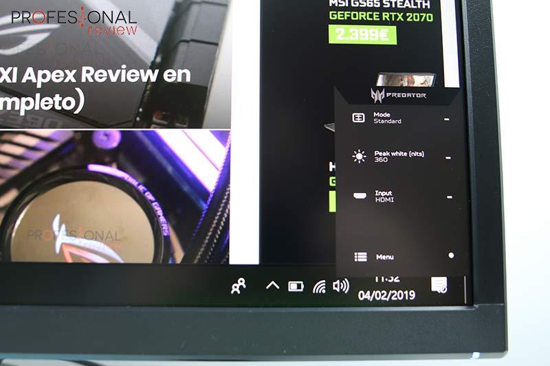 Acer Predator XB3 OSD