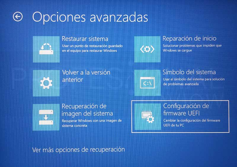 Cómo acceder a la BIOS con Windows 10 paso 06