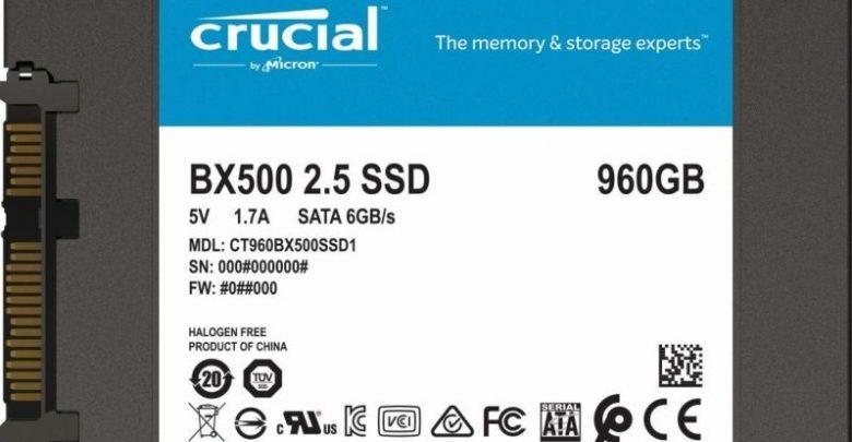 Photo of Crucial actualiza su serie BX500 con una oferta asequible de 960 GB