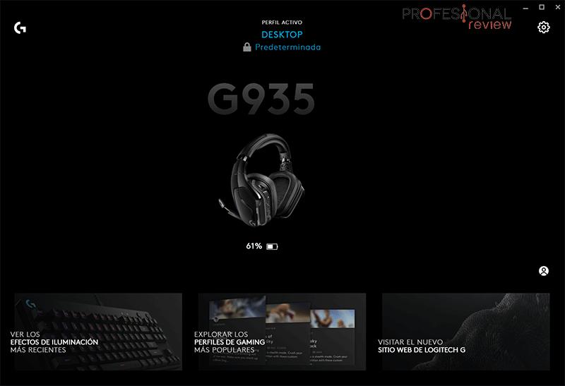 Logitech G935 software