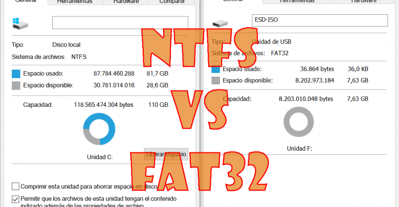 Photo of NTFS vs FAT32: Cuál es la diferencia y cual elegir en cada momento