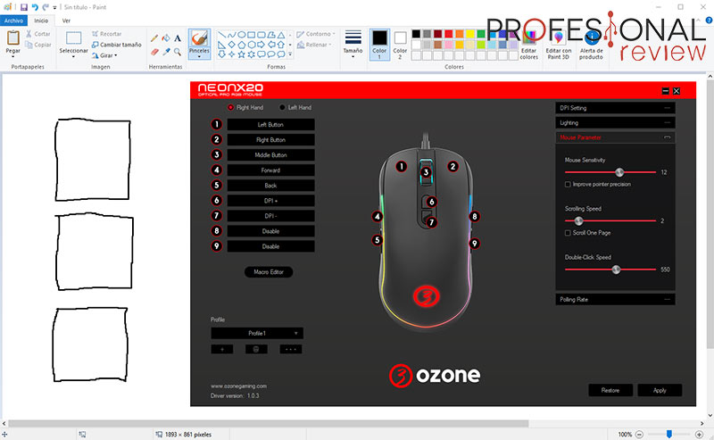 OZONE Neon X20 Software