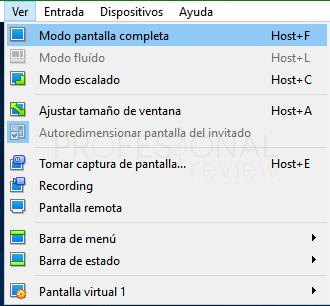 Pantalla completa en VirtualBox paso 02