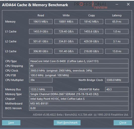MSI Infinite S RAM