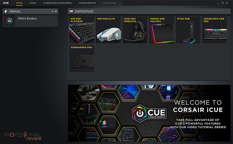 Metro Exodus + Setup Corsair con iCUE