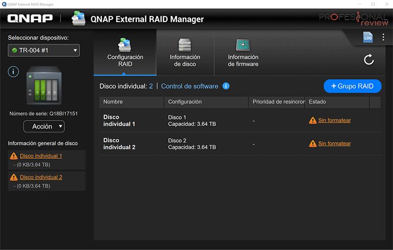 QNAP TR-004 software