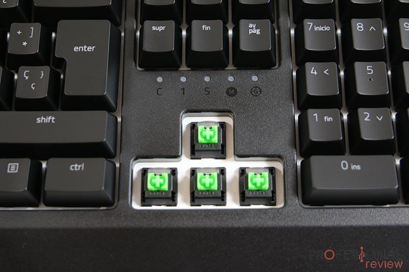 Razer Blackwidow 2019 interruptores