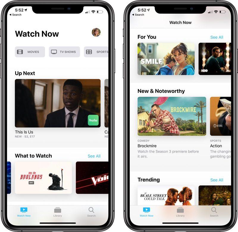 Apple lanza la primera beta pública de iOS 12.3 con la renovada app TV