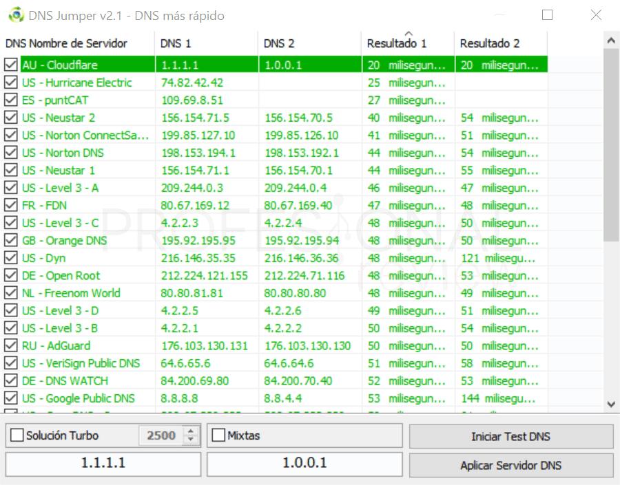 1.1.1.1 vs 8.8.8.8