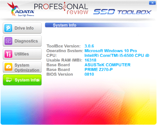 ADATA Ultimate SU750 Software