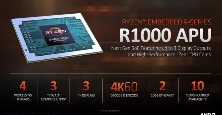 Photo of AMD presenta la serie de procesadores Ryzen R1000 Embedded
