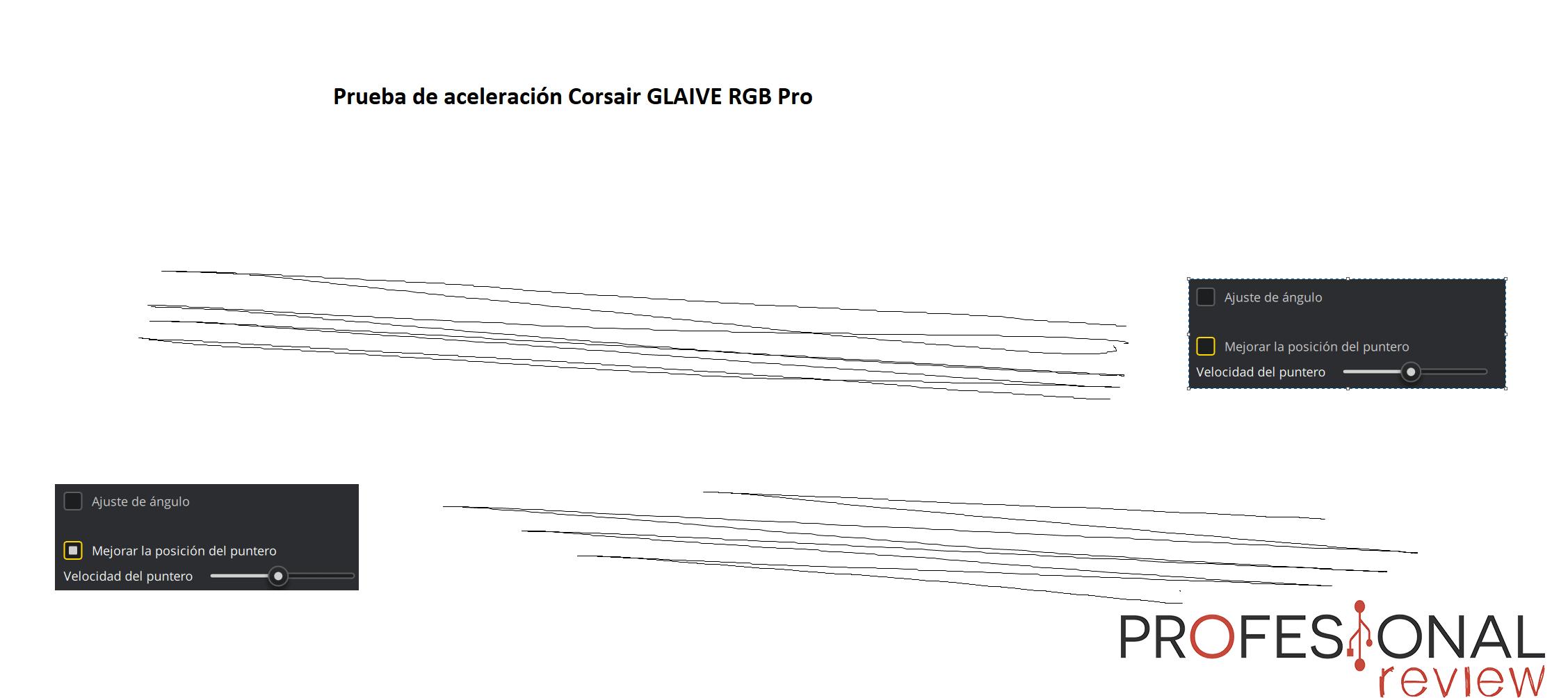 Corsair GLAIVE RGB Pro aceleración
