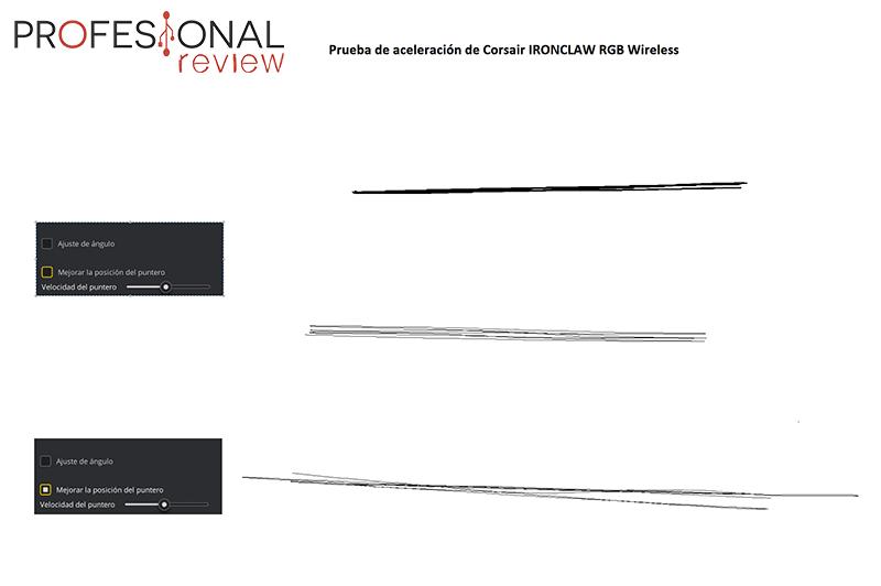 Corsair IRONCLAW RGB Wireless aceleración