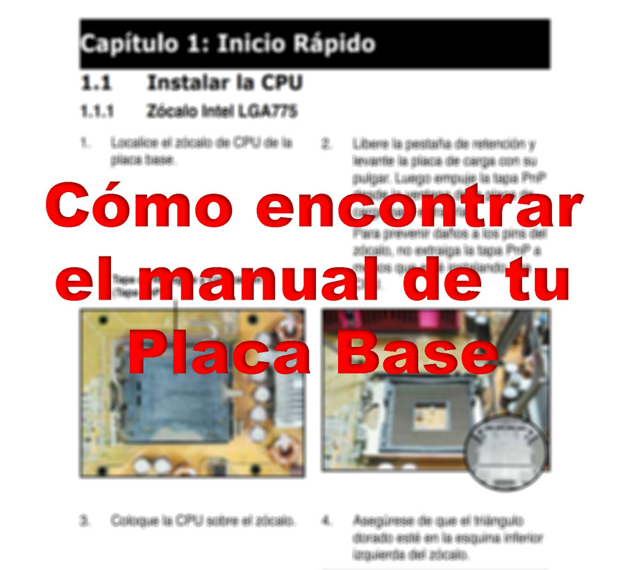 Buscar el manual de la placa base