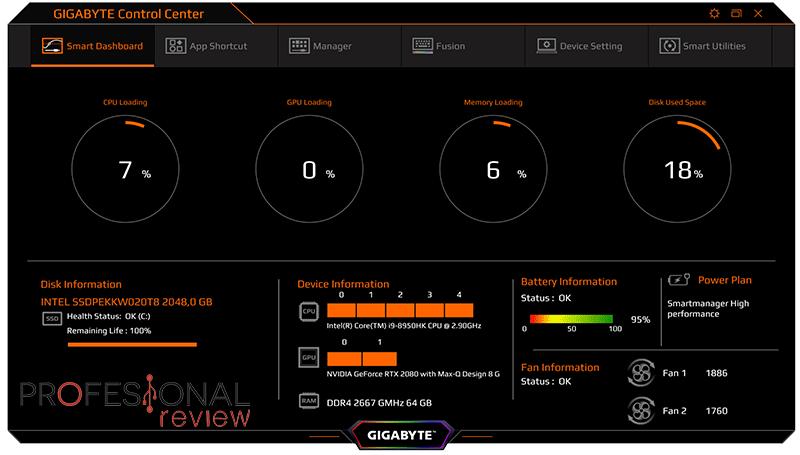 Gigabyte AERO 15-Y9 software