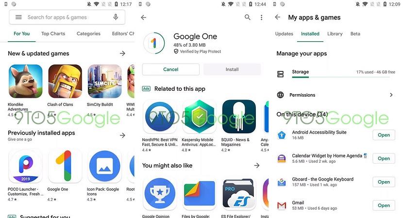 Google Play diseño