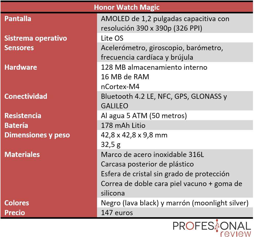Honor Watch Magic Características