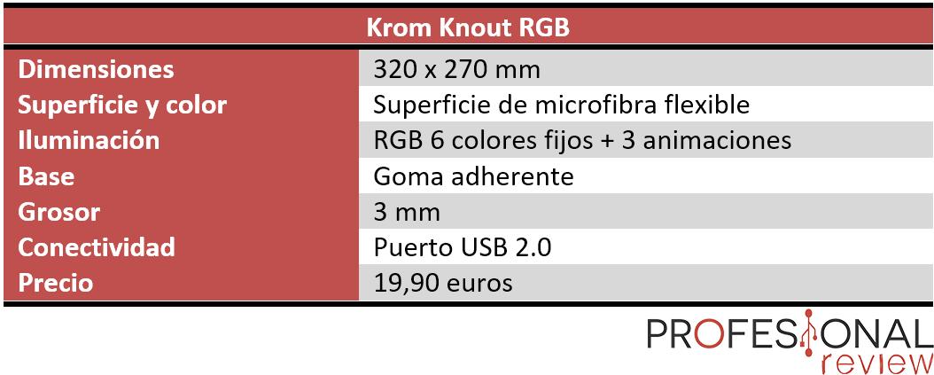 Krom Knout RGB caracteristicas