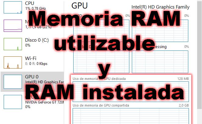 Photo of Diferencia entre memoria RAM utilizable y RAM instalada