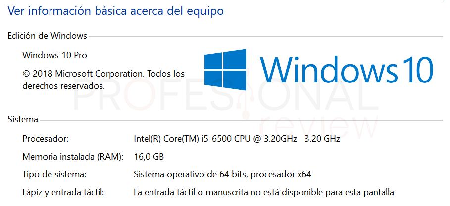Memoria RAM utilizable y RAM instalada paso01