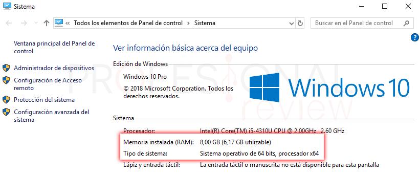 Memoria RAM utilizable y RAM instalada paso04