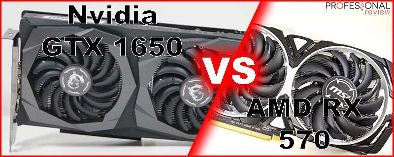 Nvidia GTX 1650 vs AMD RX 570