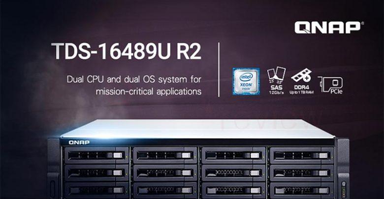 Photo of QNAP lanza el nuevo NAS QNAP TDS-16489U R2 con doble CPU Intel XEON E5