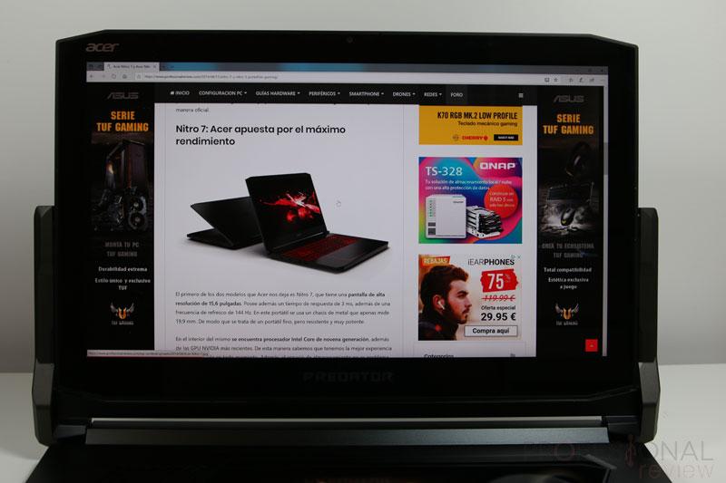 Acer Predator Triton 900 pantalla
