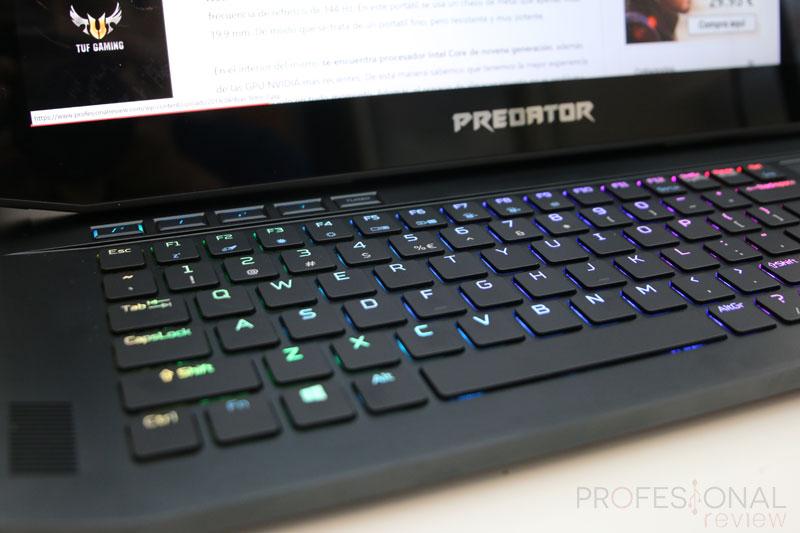 Acer Predator Triton 900 teclado