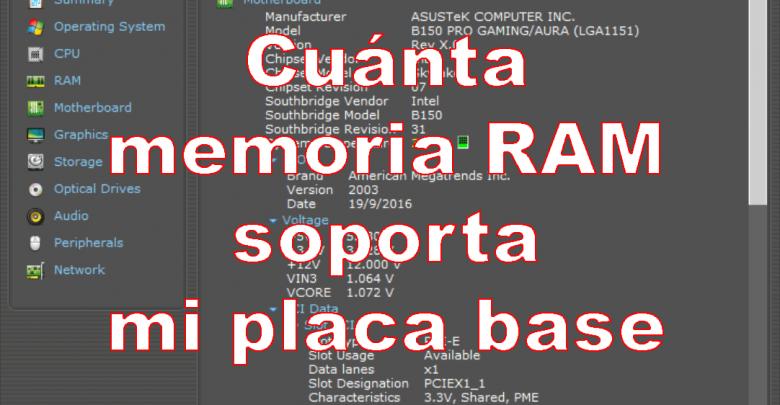 Photo of Cómo saber cuánta memoria RAM soporta mi placa base