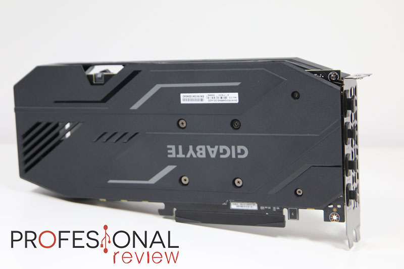Gigabyte GeForce GTX 1650 Gaming OC 4G backplate