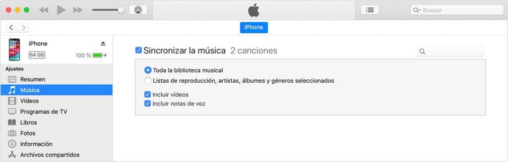 Cómo pasar música al iPhone