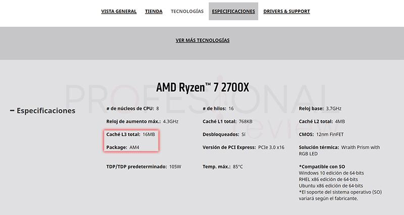 Saber el socket de mi procesador AMD