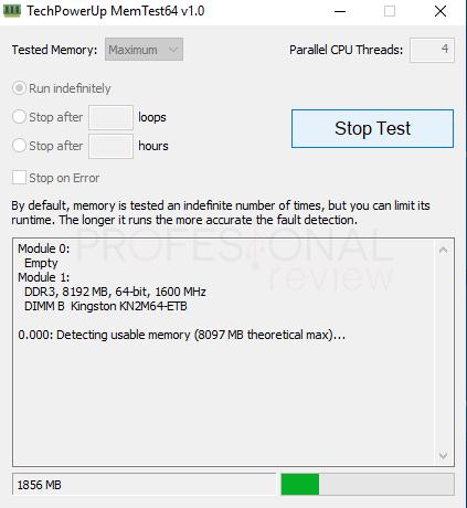 Test memoria RAM Memtest64